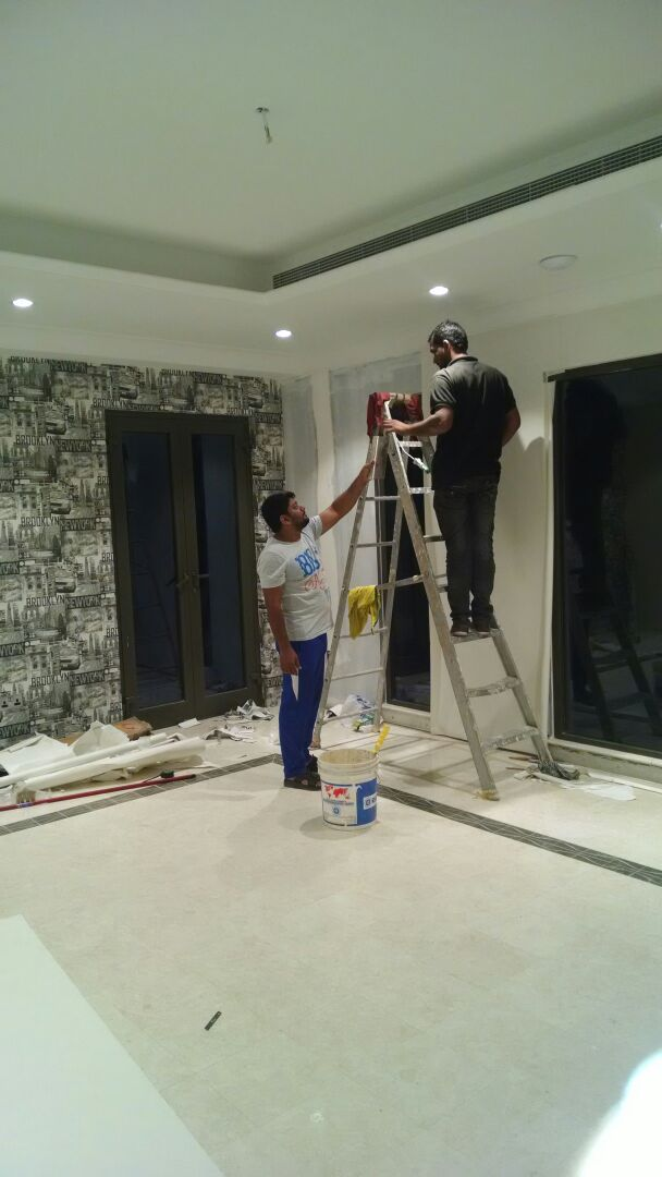 Wallpaper Fixing Door Paints Painting In Dubai Dubai